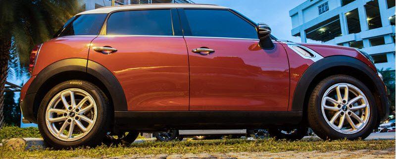 Red Mini Cooper Car